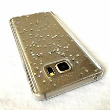 For Samsung Galaxy Note 5 - HARD TPU RUBBER GEL CASE COVER CLEAR GLITTER STARS