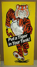 """Great """"Tiger In Your Tank"""" Sign, Brilliant Colors & Nice Graphics- 1960's Icon."""