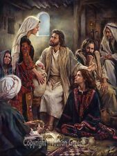 Nathan Greene - AT JESUS' FEET Mary & Martha Bible Artwork 16x20 fine art print