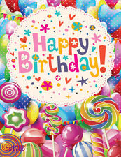 hoga 5X7 FT CP Candy Birthday Children SCENIC PHOTO BACKGROUND BACKDROP Ss1756