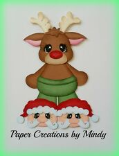 Craftecafe Mindy Christmas Rudolph premade paper piecing for scrapbook page