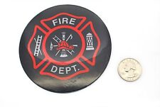 """2 Premium """"Firefighter"""" Automotive Grade Glossy Thick Decal Sticker Emblems 4 in"""