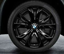 "BMW F15 X5 Genuine Star Spoke 491 BLACK Wheel Set,Wheels 20"" Rims NEW 2014+"