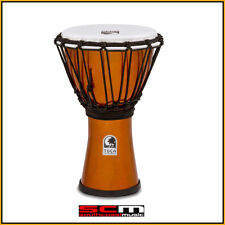 TOCA 7″ FREESTYLE COLORSOUND DJEMBE HAND DRUM – METALLIC IVY GOLD FINISH