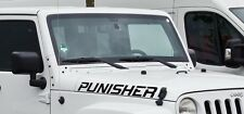 Sticker for Jeep Wrangler punisher Decal xenon eye shackle rear camera net cargo