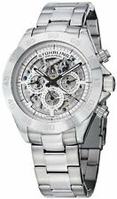 Stuhrling 487 01 Mens Symphony Elite Automatic Skeleton Multifunction 42mm Watch