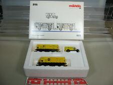 """M406-1# Märklin/Marklin H0 4876, Wagen-Set """"Bananentransport"""", NEM KK, TOP+OVP"""
