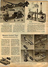 1959 ADVERT Remote Control Toy Robot Giant Atomic Cannon Shirley Temple Theater