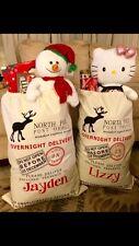 2 Personalized Santa Sack - Santa Bag Christmas Sack - Christmas Bag - Free name