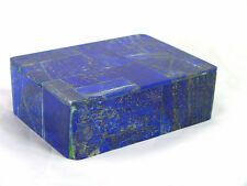 """BUTW Hand Crafted Afghan Lapis Lazuli  3 7/8"""" Jewelry Box Gorgeous Color 1289K"""
