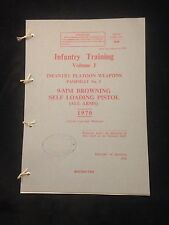 BROWNING 9mm L9A1 PISTOL PAMPHLET MANUAL HANDBOOK FALKLANDS ULSTER