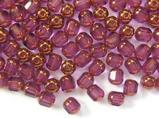20 AMETHYST faceted lantern Czech glass beads - 6mm