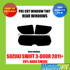 SUZUKI SWIFT 3-DOOR 2011+ 20% DARK REAR PRE CUT WINDOW TINT