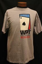 World Poker Tour Gray Graphic Tee  Mirage Casino  Short Sleeve Size L
