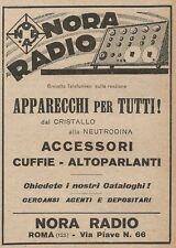 Z2271 NORA Radio - Pubblicità del 1927 - Vintage advertising
