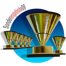 8 x ABSORBER Set Noicekiller Dynavox Spikes gold messing BOXENFÜßE Lautsprecher
