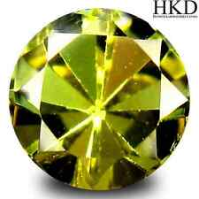 0.99 ct HKD-Certified Unheated Natural Round-cut Yellow VVS Tanzanite (Zoisite)