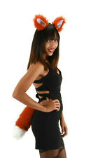 FOX EARS AND TAIL SET BROWN RED ADULT FOX FOXY ANIMAL COSTUME ACCESSORY KIT