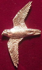 Pewter Peregrine Falcon Falconry Brooch Pin  Signed
