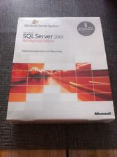 MS SQL Server 2005 Workgroup Edition inkl. 5 Clients, Deutsch mit MwSt Rechnung
