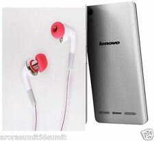 For Lenovo A6000 Plus Pannu gold HIGH BASS 3.5mm HANDSFREE HEADPHONE EARPHONE