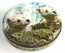VINTAGE RETRO TOFFEE TINWEST HIGHLAND WHITE TERRIER PUPPIES SCENE - CUTE!