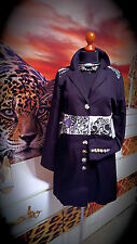 St. MARTINS  GR.40 Damen Boho Mantel Stickerei schwarz- Women's  coat