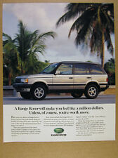 2000 Land Rover RANGE ROVER silver truck photo print Ad
