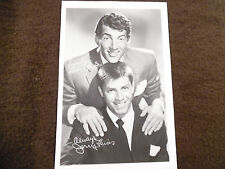 Dean Martin and Jerry Lewis Signed Photograph 4x7 163N