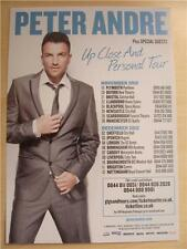 Flyer: Peter Andre Up Close And Personal Tour - Rare 2012 UK Tour
