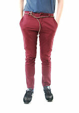 Eleven Paris Men's CHAPLIN Casual Slim Trouser Style 13S1PA02 Burgundy Size 31