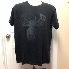 VINTAGE LARGE MARVEL SPIDERMAN BLACK ON BLACK T SHIRT