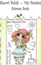 NEW My-Besties Acrylic cling Rubber Stamp  CUP OF TEA SET Free USA ship