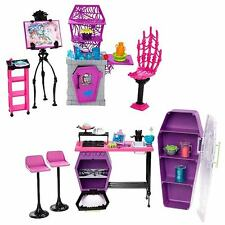 MONSTER HIGH SCHOOL PLAYSETS - ART CLASS STUDIO & HOME ICK CLASSROOM