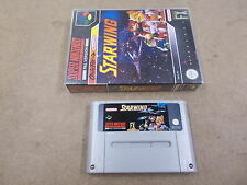 SNES Super Nintendo Pal Game with Case STAR WING