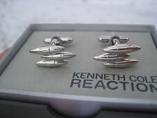 Kenneth Cole Reaction Cufflinks, Silver-Tone, Modern Design, $40 Retail