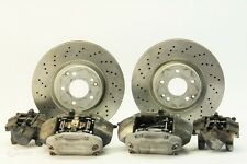 Mercedes Benz C230 04 Brembo Sport Brake Caliper Set of 4, Front Drilled Rotors