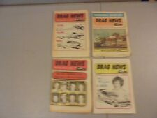 LOT OF 4 1974 DRAG NEWS NHRA NEWSPAPERS,AHRA,IHRA,GARLITS,IVO,JUNGLE JIM,DIXON