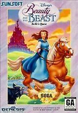 Disney's Beauty and the Beast: Belle's Quest (Sega Genesis) - RARE with Case!!