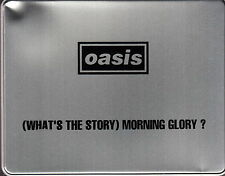 oasis what's the story morning glory promo tin box cd t-shirt pins note pad +