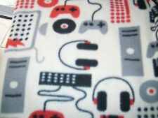 "Accent throw pillow COVER 16"" fleece gaming station video game controlers"