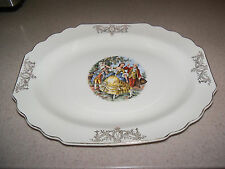 Vintage China W S George Victorian Courting Couple Man Woman Serving Platter