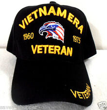 MILITARY CAP VIETNAM ERA VETERAN (BLACK) HAT