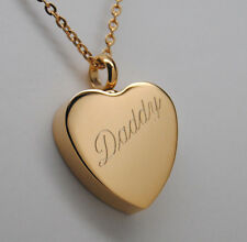 DADDY CREMATION JEWELRY GOLD DAD URN NECKLACE ENGRAVABLE DAD MEMORIAL KEEPSAKE