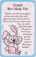 New Munchkin Promo Door Card Curse! Bad Hare Day Easter Eggs Legends Zombie Dice
