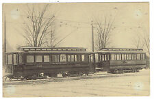 Trolley Series #6 card I R C No 3021 & trailer No 1012 built in Cleveland 1903