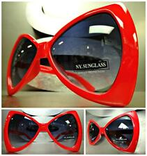New OVERSIZE EXAGGERATED HUGE VINTAGE Style SUN GLASSES Large Red Bow Shap Frame