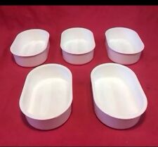 Plastic Food Water Bowl Dish 4.5 X 3 Inch Hamster Mouse Rat Gerbil Chinchilla x5