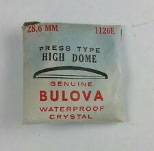 VINTAGE BULOVA PRESS TYPE HIGH DOME WATCH CRYSTAL - 28.6mm - PART# 1126E