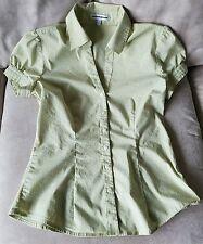 WOMEN'S SIZE SMALL, EXPRESS, BUTTON UP, COLLARED, SHORT SLEEVE DRESS SHIRT